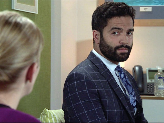 Imran on the first episode of Coronation Street on November 23, 2020