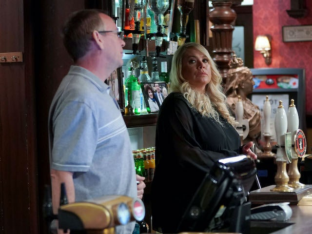 Sharon and Ian on EastEnders on November 19, 2020