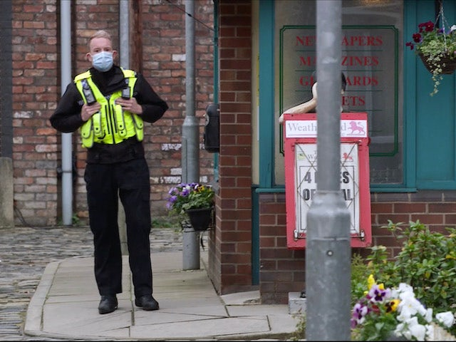 Craig on the first episode of Coronation Street on November 30, 2020