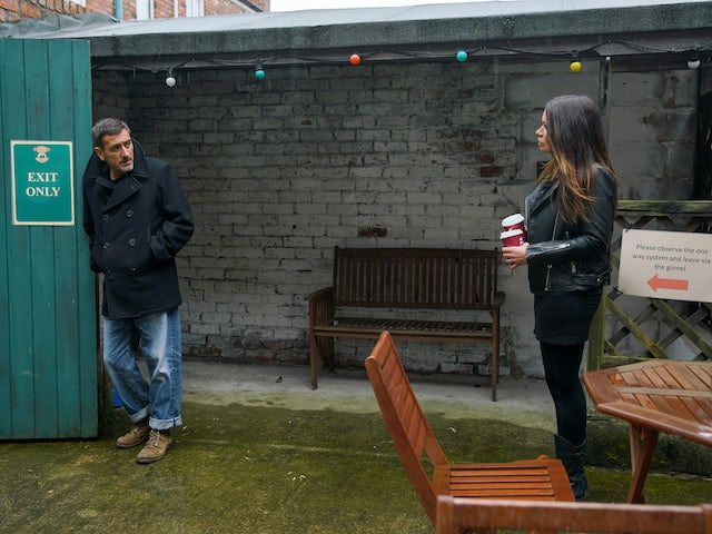 Carla and Peter on the second episode of Coronation Street on November 25, 2020