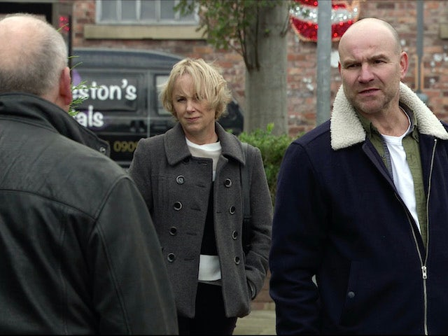 Sally and Tim on the first episode of Coronation Street on November 30, 2020