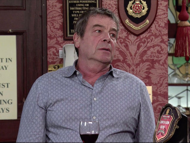 Johnny on the second episode of Coronation Street on November 27, 2020