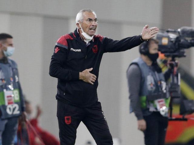 Albania manager Edoardo Reja pictured on November 15, 2020
