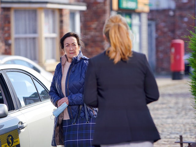 Margaret on the second episode of Coronation Street on November 25, 2020