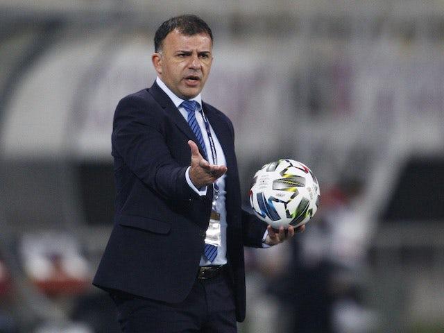 Der Cheftrainer von Nordmakedonien, Igor Angelovski, ist am 15. November 2020 abgebildet