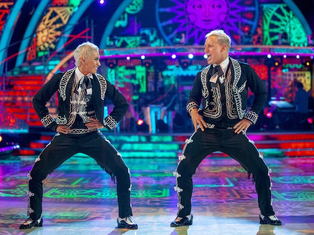 Jamie Laing and Karen Hauer on week four of Strictly Come Dancing on November 14, 2020
