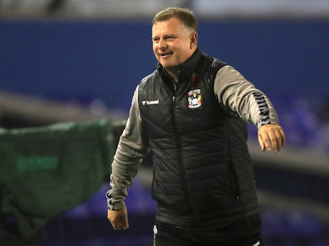 Coventry City manager Mark Robins pictured in October 2020