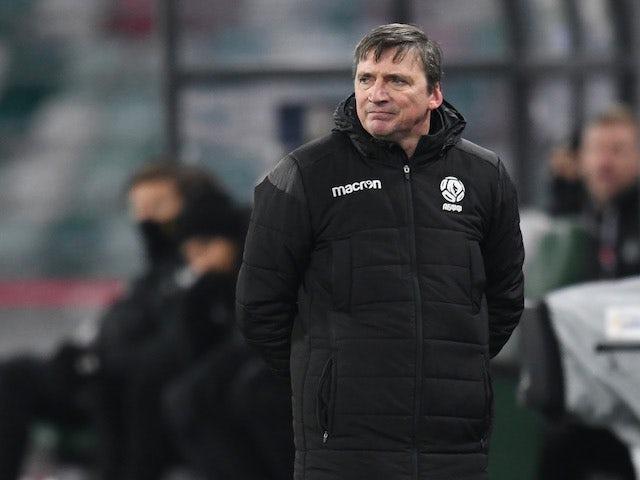 Belarus head coach Mikhail Markhel pictured on November 15, 2020