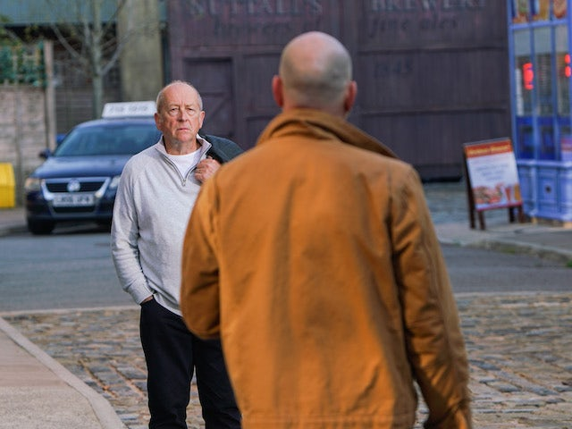 Geoff on the first episode of Coronation Street on November 23, 2020