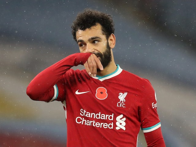 Mohamed Salah in action for Liverpool on November 8, 2020