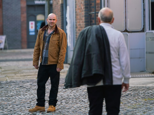 Tim on the first episode of Coronation Street on November 23, 2020