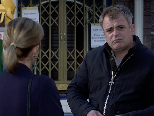 Steve on the first episode of Coronation Street on December 4, 2020