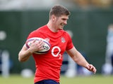 England's Owen Farrell pictured in training on November 11, 2020