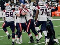 New England Patriots celebrate Nick Folk's match-winning field goal against New York Jets on November 10, 2020
