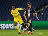 Borussia Dortmund's Dan-Axel Zagadou in action against Paris Saint-Germain in the Champions League on March 11, 2020