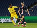 Borussia Dortmund's Dan-Axel Zagadou in action against Paris Saint-Germain in the Champions League on March 11, 2020