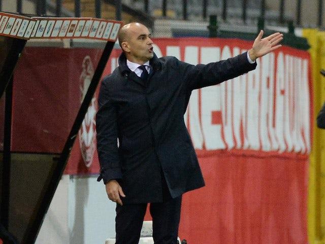 Belgium manager Roberto Martinez pictured on November 11, 2020