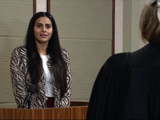 Alya on the second episode of Coronation Street on December 4, 2020