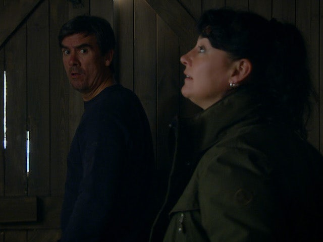 Cain and Moira on the first episode of Emmerdale on November 19, 2020