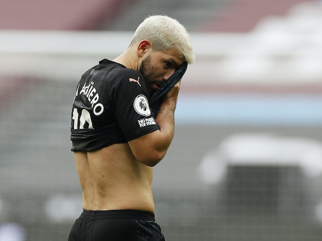 Sergio Aguero yet to return to training ahead of Porto clash