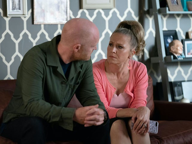 Max and Linda on EastEnders on November 20, 2020