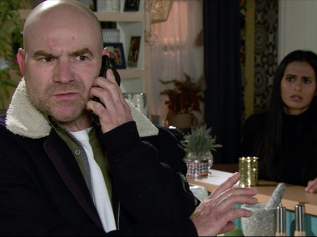 Tim on the second episode of Coronation Street on November 30, 2020