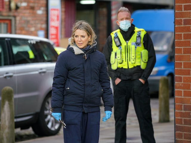 Abi on the second episode of Coronation Street on November 30, 2020