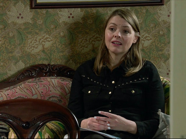 Tracy on the second episode of Coronation Street on November 30, 2020