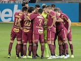 Sport Recife players in a huddle ahead of a match in October 2020