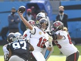Tampa Bay Buccaneers quarterback Tom Brady in action against Carolina Panthers on November 15, 2020