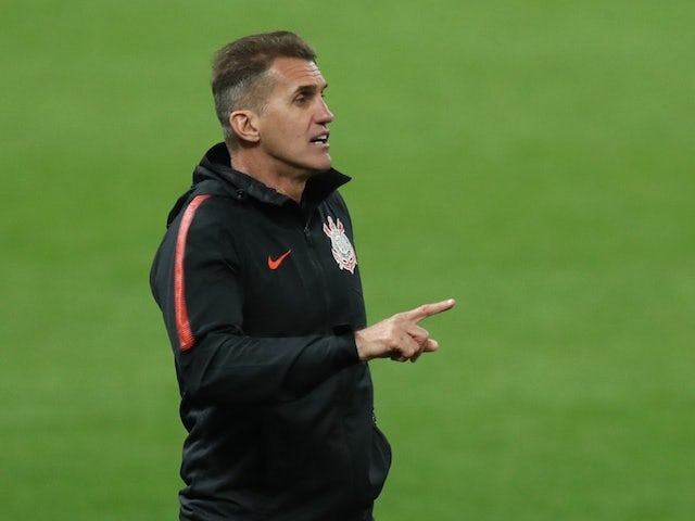 Corinthians manager Vagner Mancini pictured in October 2020
