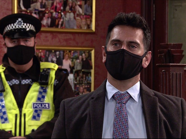 The Police on the second episode of Coronation Street on November 27, 2020