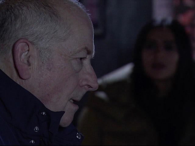 Geoff on Coronation Street on December 9, 2020
