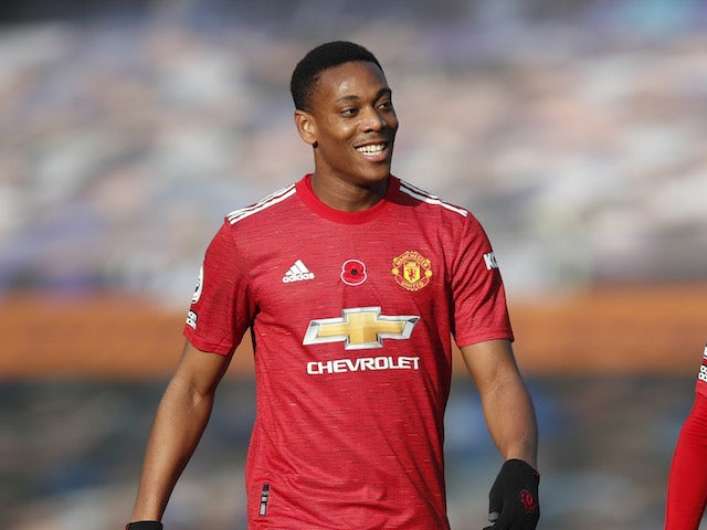 Manchester United forward Anthony Martial pictured in November 2020