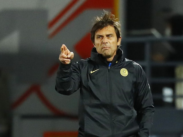 Inter Milan manager Antonio Conte pictured in November 2020