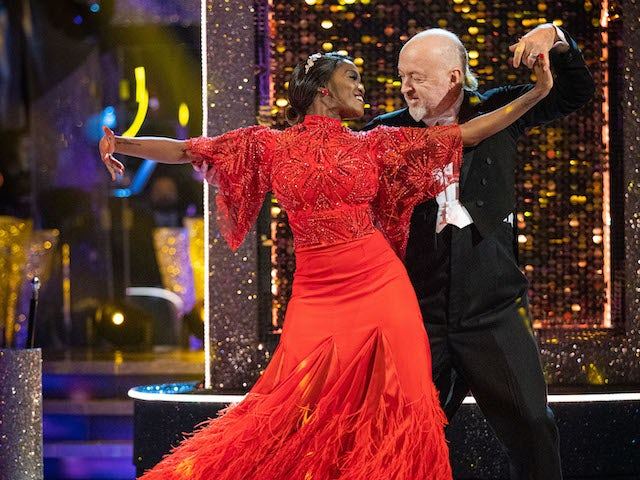 Bill Bailey and Oti Mabuse on Strictly Come Dancing week five on November 21, 2020