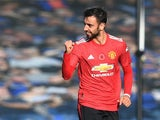 Bruno Fernandes in action for Manchester United on November 7, 2020