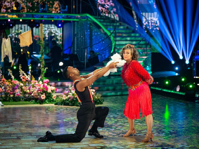 Caroline Quentin and Johannes Radebe on Strictly Come Dancing week five on November 21, 2020