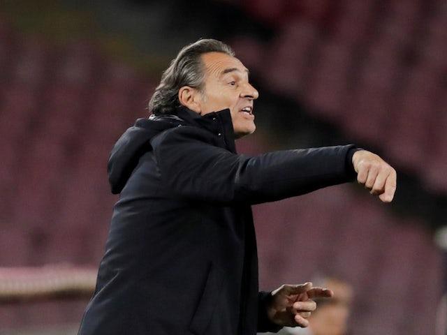 Cesare Prandelli, now in charge of Fiorentina, pictured in April 2019