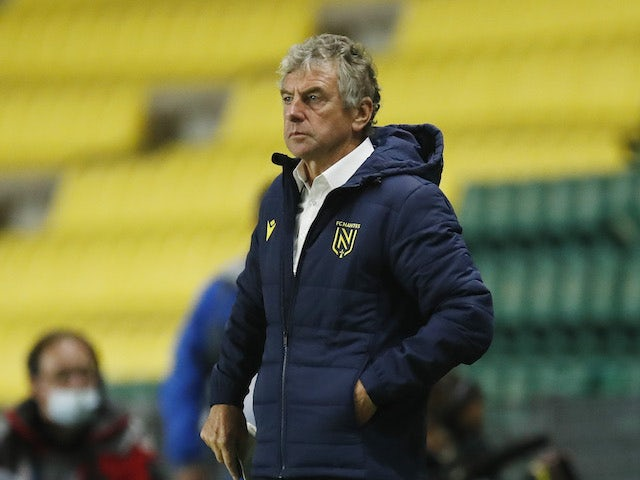 Nantes manager Christian Gourcuff pictured in October 2020