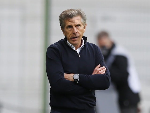 Saint-Etienne head coach Claude Puel pictured in October 2020