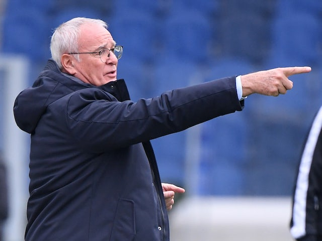 Sampdoria manager Claudio Ranieri pictured in October 2020