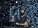 Daniil Medvedev lifts the ATP Finals trophy on November 22, 2020