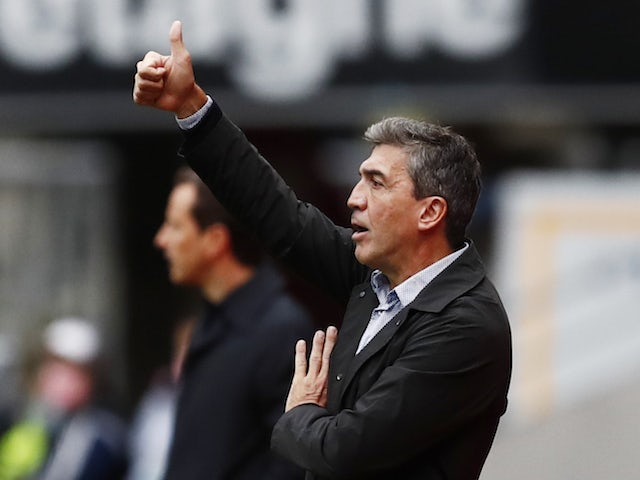 Reims manager David Guion pictured in October 2020