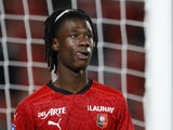 Eduardo Camavinga in action for Rennes on October 23, 2020