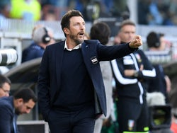 Eusebio Di Francesco, now in charge of Cagliari, pictured in September 2019