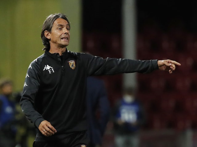Benevento manager Filippo Inzaghi pictured in September 2020