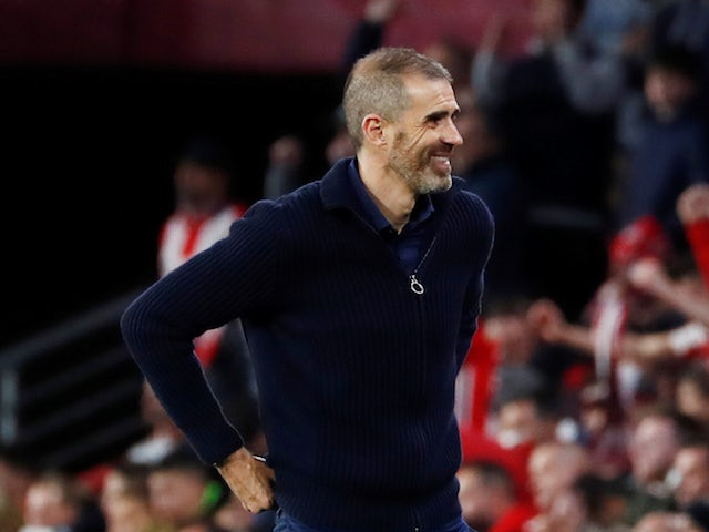 Athletic Bilbao head coach Gaizka Garitano pictured in March 2020