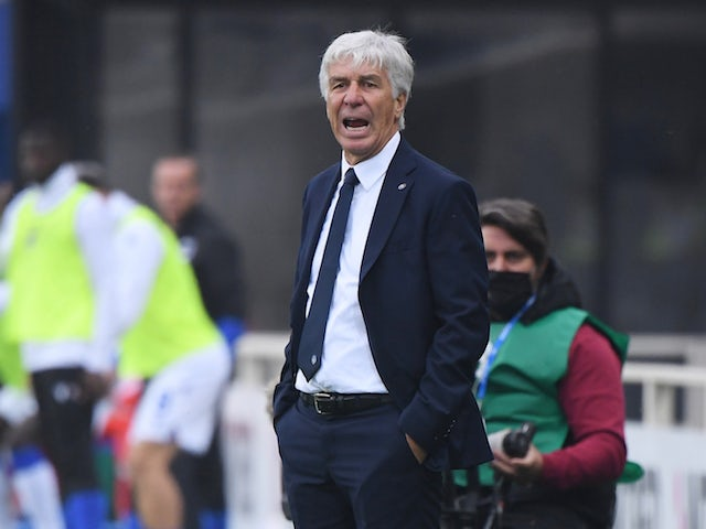 Atalanta BC head coach Gian Piero Gasperini pictured in October 2020