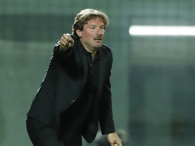 Crotone manager Giovanni Stroppa pictured in October 2020